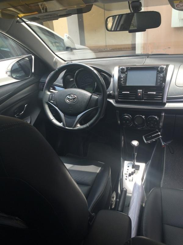 Em bán xe Toyota Vios G 2014 - 2015 - mầu vàng cát nội thất màu đen-4