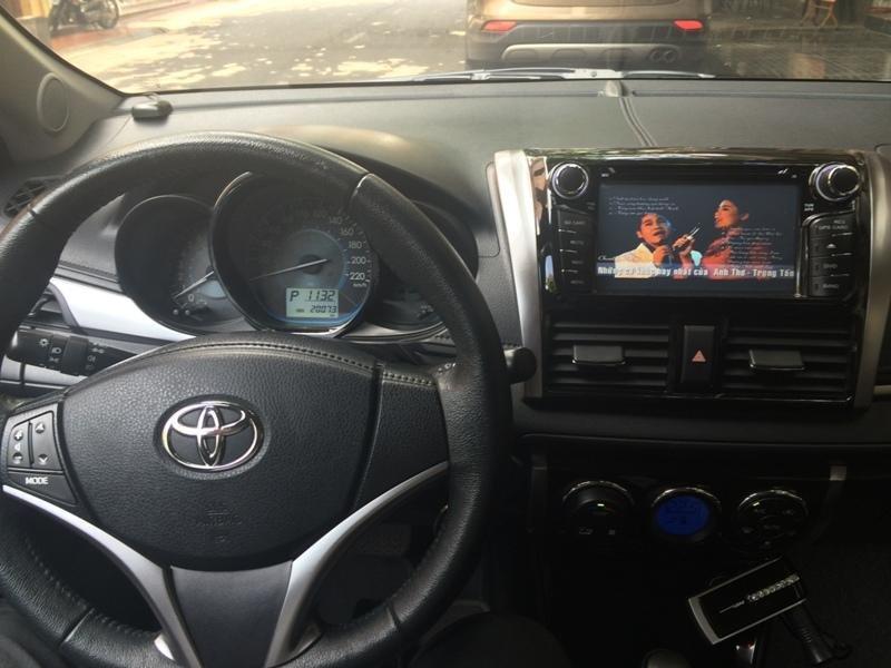 Em bán xe Toyota Vios G 2014 - 2015 - mầu vàng cát nội thất màu đen-2