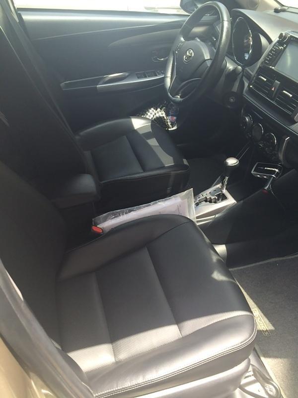 Em bán xe Toyota Vios G 2014 - 2015 - mầu vàng cát nội thất màu đen-7