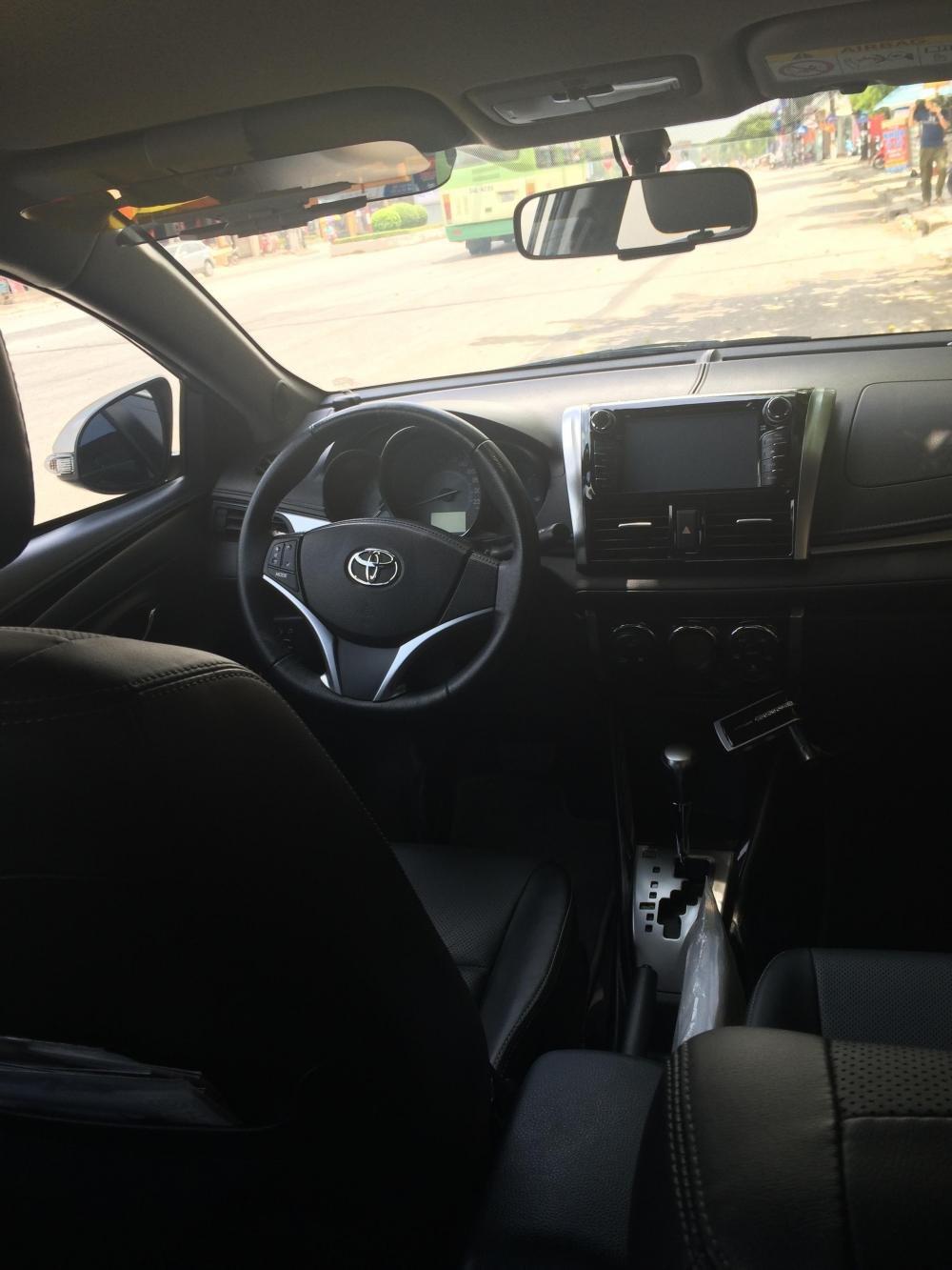 Em bán xe Toyota Vios G 2014 - 2015 - mầu vàng cát nội thất màu đen-1