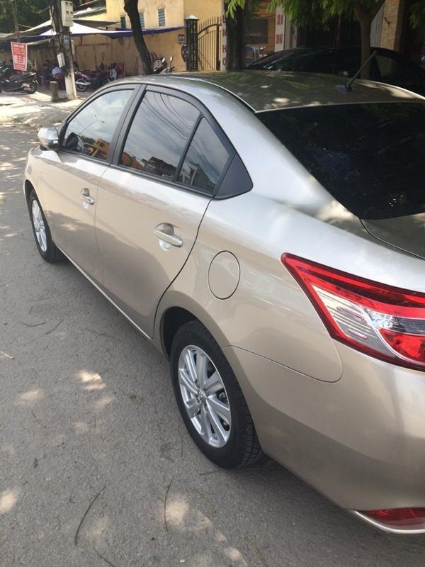 Em bán xe Toyota Vios G 2014 - 2015 - mầu vàng cát nội thất màu đen-9