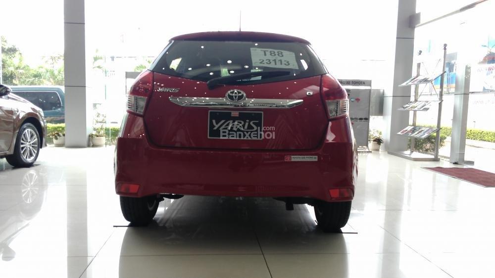 Yaris 1.3G 2015 màu đỏ, Toyota Giải Phóng cam kết giá tốt nhất-2