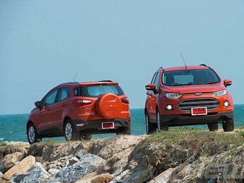 Ford EcoSport góc cạnh, hướng tới tính khí động học.