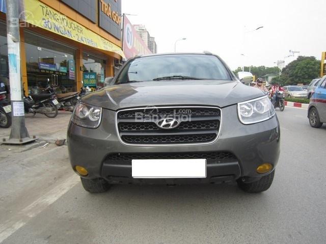 Bán ô tô Hyundai Santa Fe đời 2008, màu xám, nhập khẩu Hàn Quốc-0