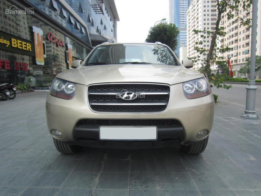 Cần bán xe Hyundai Santa Fe đời 2008, màu xám, nhập khẩu Hàn Quốc, 599tr-0