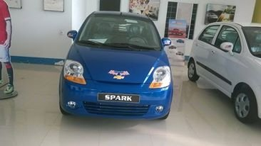 Bán xe Chevrolet Spark van đời 2015, màu xanh lam-4