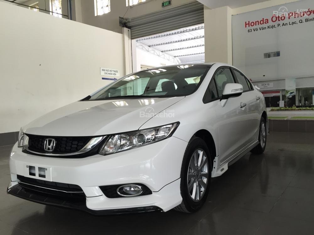 Cần bán xe Honda Civic Modulo 2.0 AT đời 2015, màu trắng full option -0