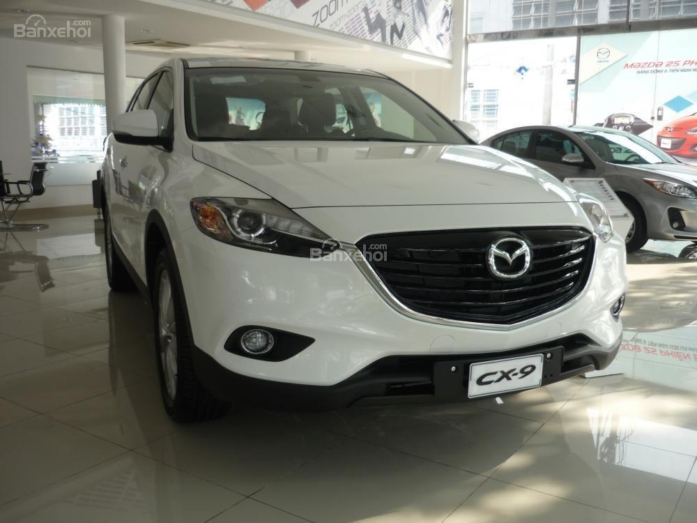 Bán xe Mazda Tây Ninh bán xe CX9 mới 2015, màu trắng, xe nhập từ Nhật, giá tốt nhất-6