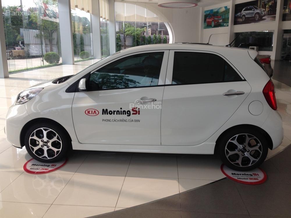 Bán ô tô Kia Morning Si sản xuất 2015, màu trắng, giá ưu đãi, hỗ trợ trả góp 70% giá trị xe-2