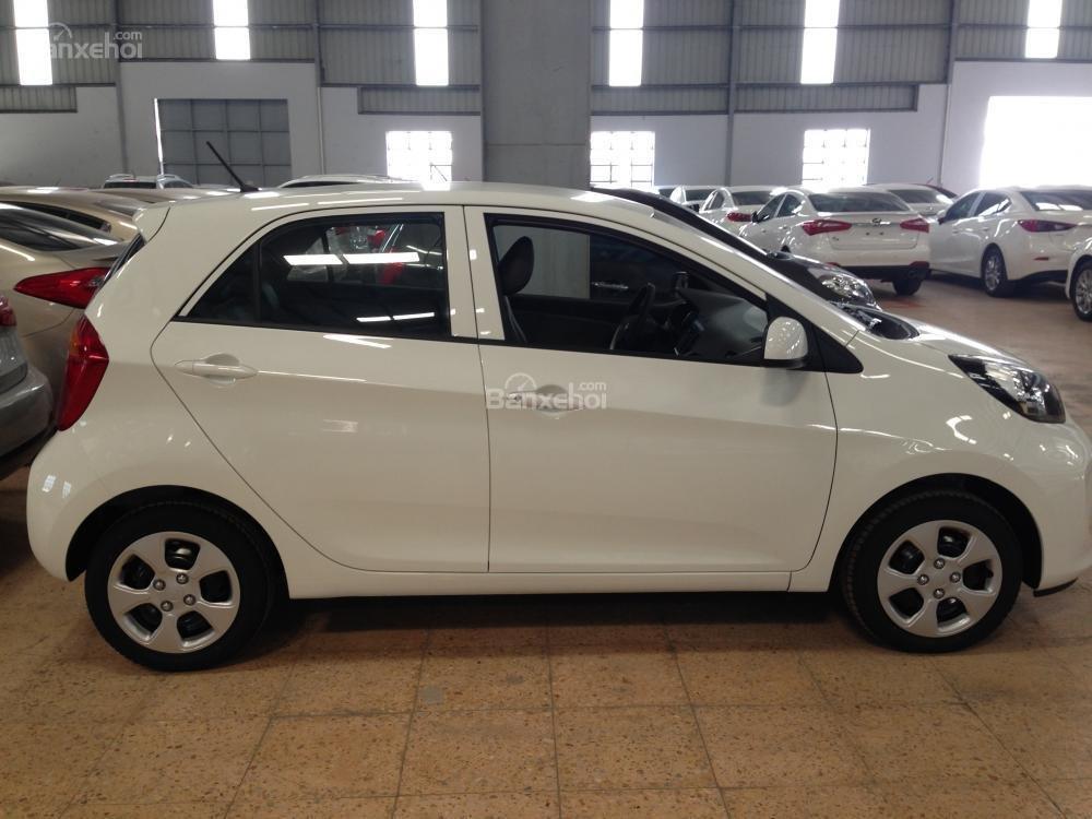 Cần bán xe Kia Morning EXMT đời 2015, màu trắng giá cạnh tranh, hỗ trả góp 70% -0