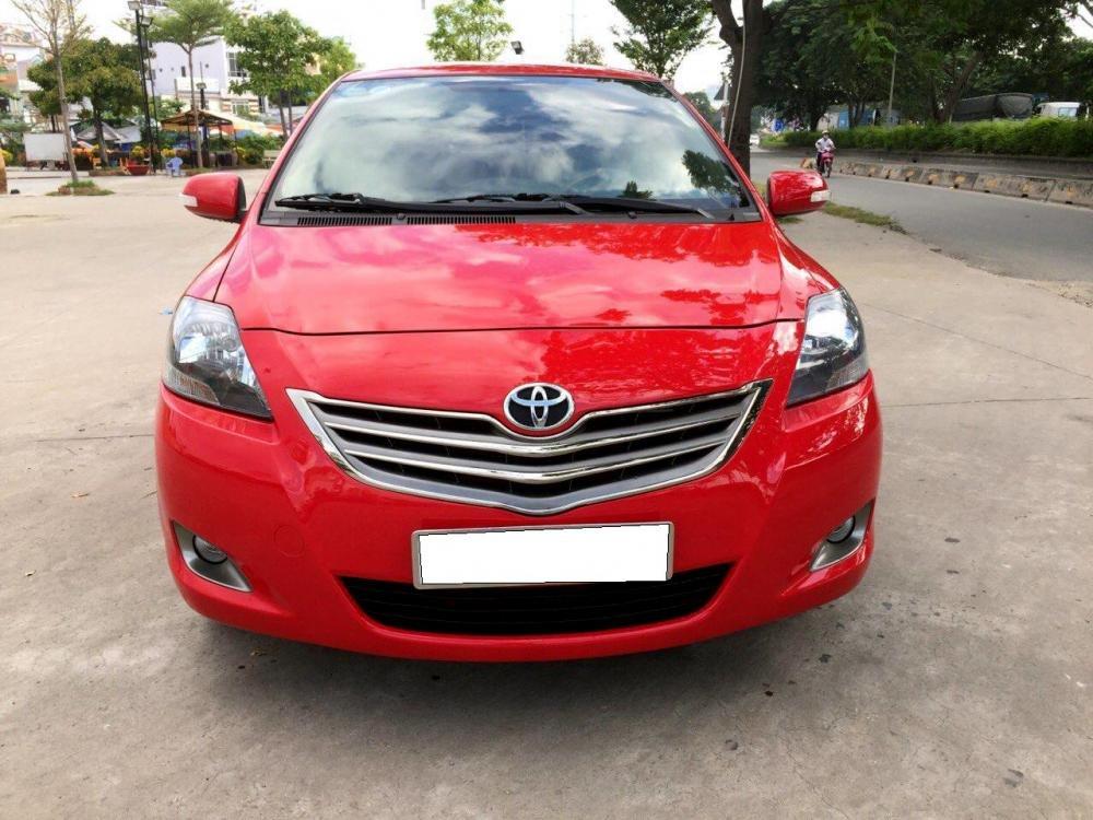 Cần bán Vios số tự động SX cuối 2012 màu đỏ, xe gia đình sử dụng kĩ-0