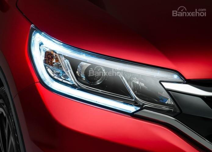 Honda CRV 2015 màu đỏ mận mới . Hỗ trợ đăng ký , đăng kiểm, vay trả góp lãi thấp-1