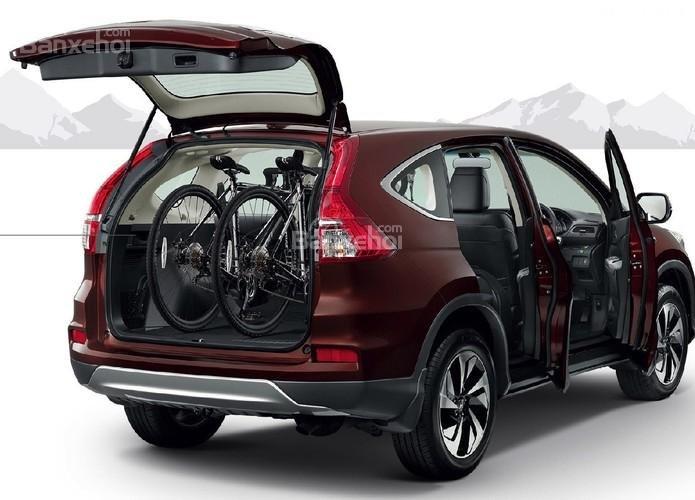 Honda CRV 2015 màu đỏ mận mới . Hỗ trợ đăng ký , đăng kiểm, vay trả góp lãi thấp-2