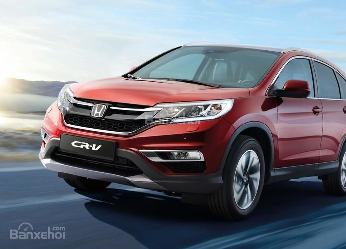 Honda CRV 2015 màu đỏ mận mới . Hỗ trợ đăng ký , đăng kiểm, vay trả góp lãi thấp-3