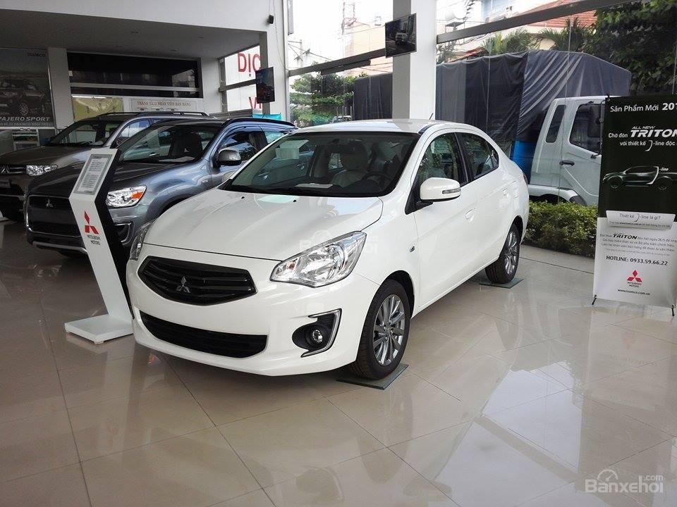 Cần bán xe Mitsubishi Attrage đời 2015, màu trắng, nhập khẩu Thái Lan, giá tốt nhất TPHCM-4