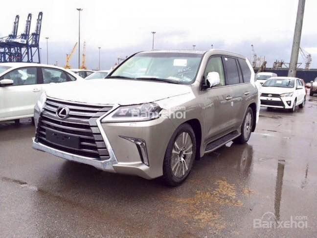 Cần bán xe Lexus LX năm 2015, xe nhập màu bạc-2