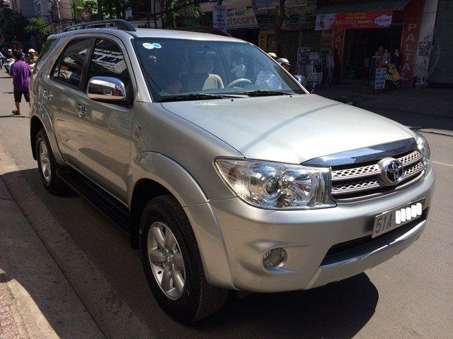 Cần bán lại xe Toyota Fortuner đời 2009, màu bạc, nhập khẩu-0