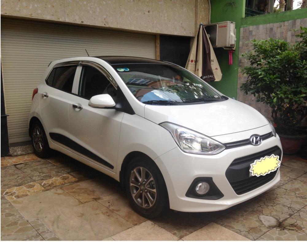 Cần bán lại xe Hyundai i10 đời 2015, màu trắng, nhập khẩu chính hãng-1