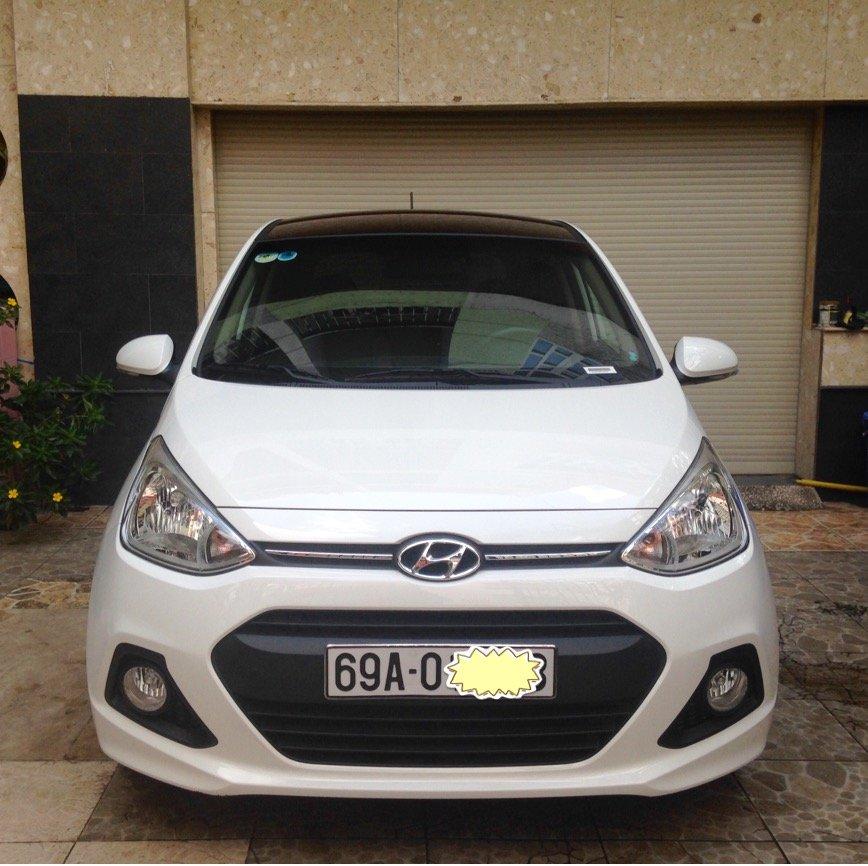 Cần bán lại xe Hyundai i10 đời 2015, màu trắng, nhập khẩu chính hãng-0