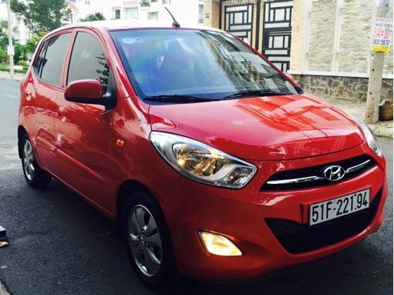 Cần bán Hyundai i10 năm 2012, màu đỏ, nhập khẩu, chính chủ-1