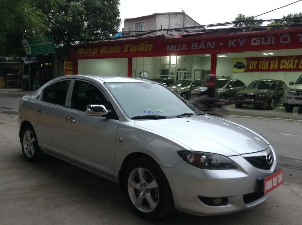 Cần bán Mazda 3 đời 2004, màu bạc, giá 385tr-0