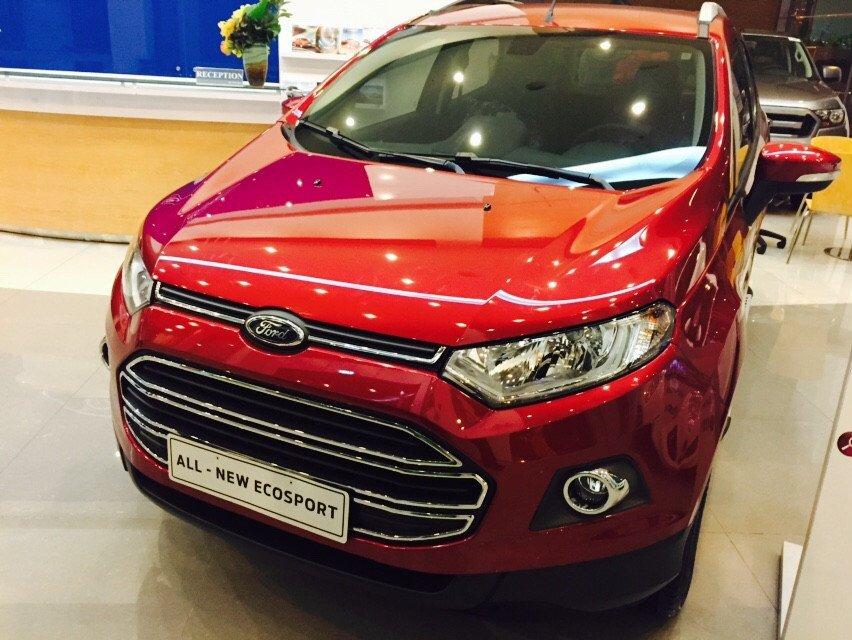 Bán xe Ford EcoSport sản xuất 2015, màu đỏ-1