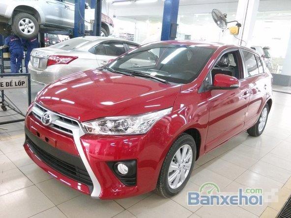 Toyota Yaris 2015, bản E, động cơ 1.3L, số tự động, mầu đỏ, nhập khẩu nguyên chiếc Thailand-1