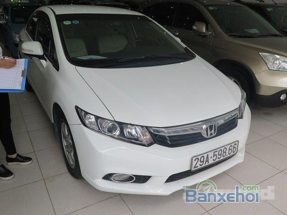 Xe Honda Civic 2 2012 cũ màu trắng đang được bán-0