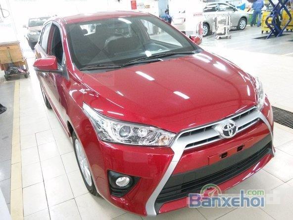 Toyota Yaris 2015, bản E, động cơ 1.3L, số tự động, mầu đỏ, nhập khẩu nguyên chiếc Thailand-2
