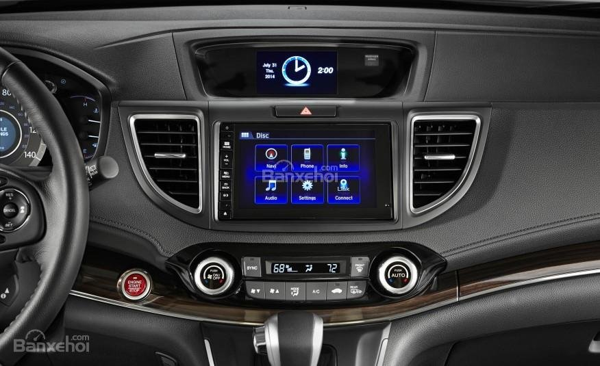 Honda CR-V 2016: Nhiều chi tiết vẫn được chế tạo từ nhựa