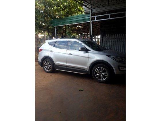 Cần bán lại xe Hyundai Santa Fe sản xuất 2013, màu trắng, xe nhập, xe gia đình-4