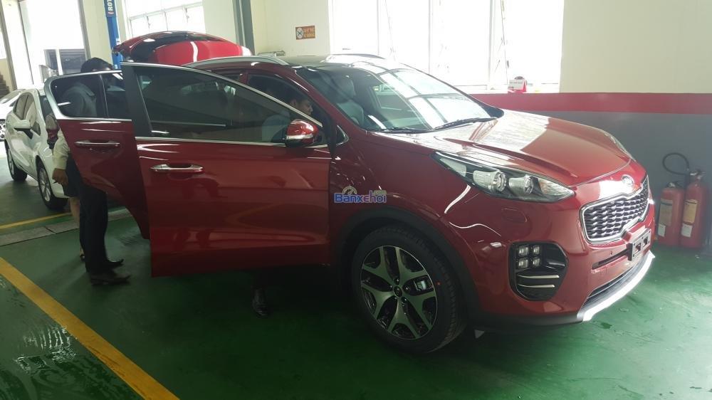 Bán xe Kia Sportage đời 2015, màu đỏ, xe nhập-8