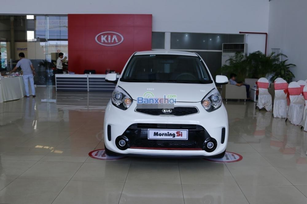 Bán xe Kia Morning sản xuất 2015, màu trắng, giá 425tr-2
