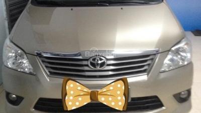 Bán Toyota Innova E đời 2012, màu vàng số sàn - 690 triệu-0