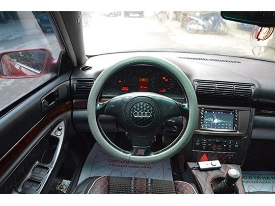 Bán Audi A4 sản xuất 2000, màu đỏ, nhập khẩu chính hãng số sàn, 345tr-1