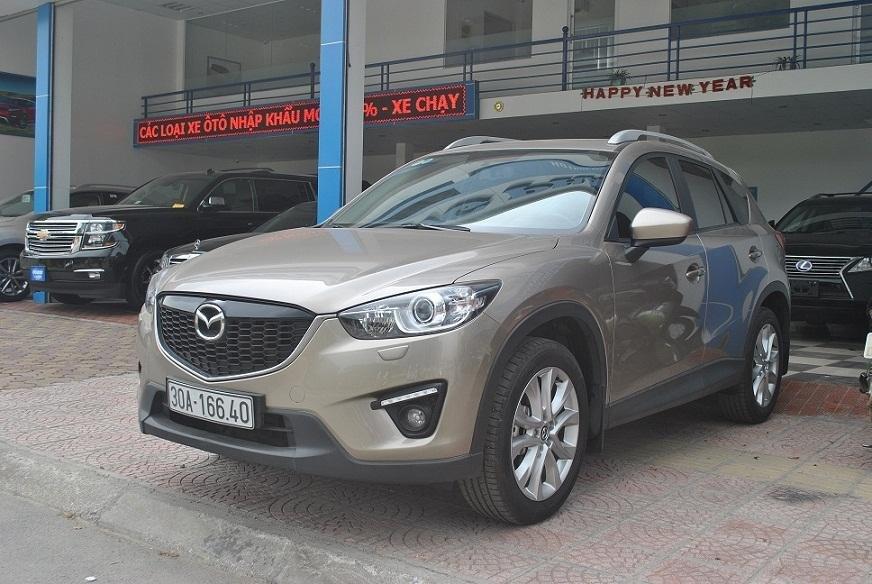 Cần bán lại xe Mazda CX 5 đời 2015, màu vàng cát, chính chủ-0