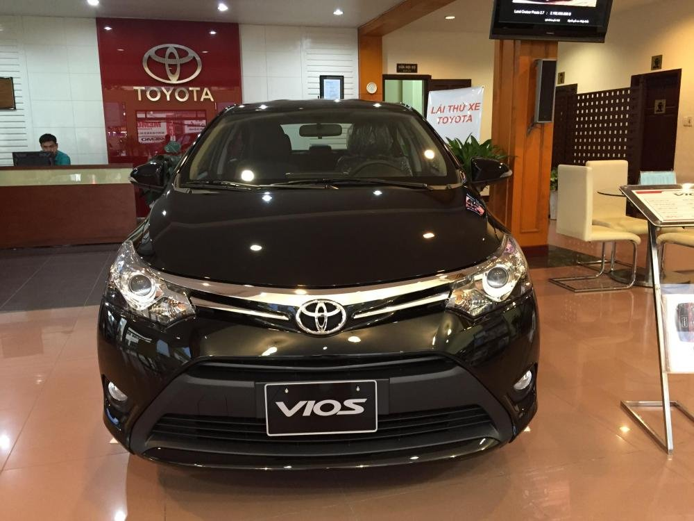 Cần bán xe Toyota Vios 2015, màu xám-5