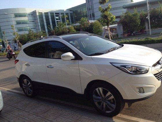 Bán ô tô Hyundai Tucson đời 2014, màu trắng, nhập khẩu-0