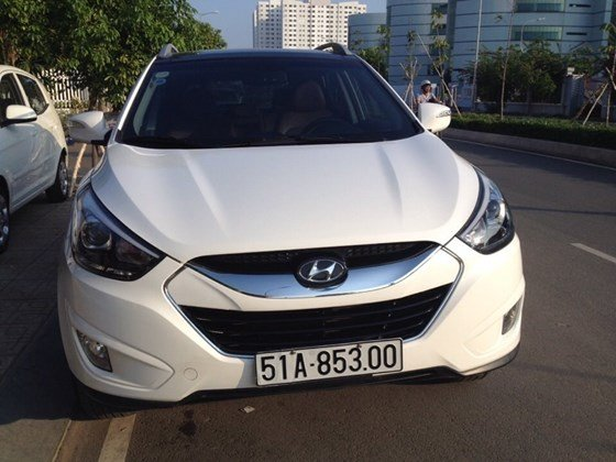 Bán ô tô Hyundai Tucson đời 2014, màu trắng, nhập khẩu-7