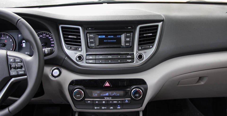 Bảng Tablo của Hyundai Tucson 2016.