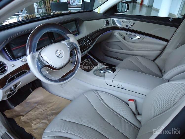 Đánh giá xe Mercedes-Benz S400L 2015 phần nội thất 2