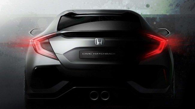 Honda Civic Hatchback concept thế hệ mới sẽ được giới thiệu tại triển lãm Geneva 2016.