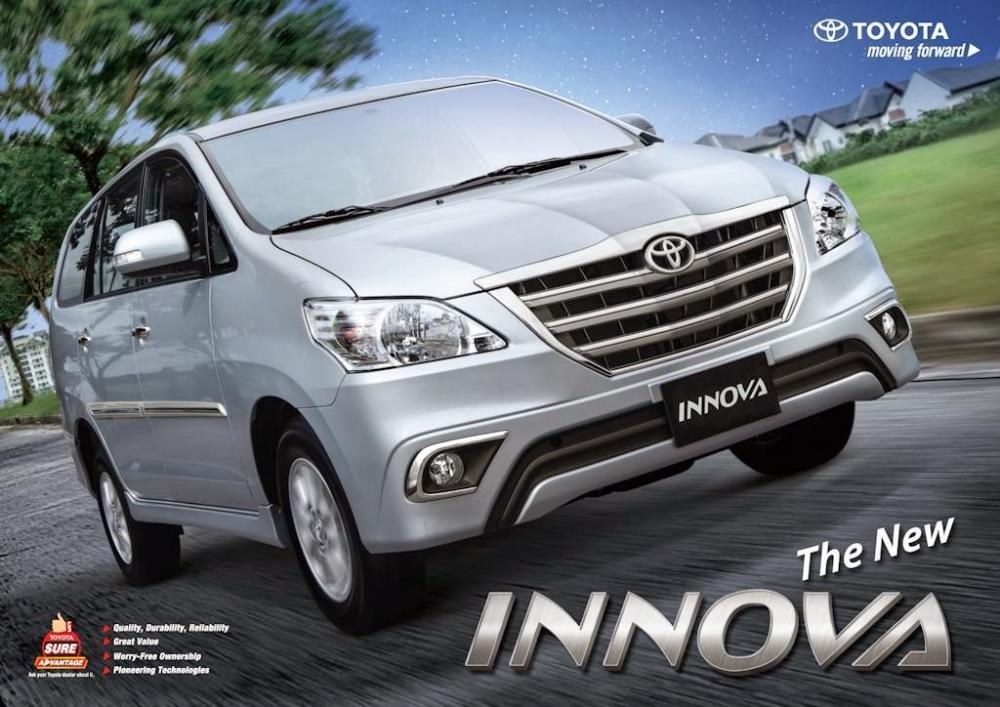 Toyota Innova 2016 có thể sử dụng cho mục đích phục vụ nhu cầu đi lại của gia đình hoặc chở hàng.