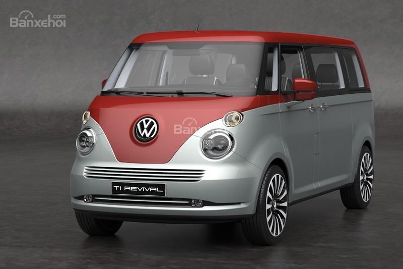 """Volkswagen T1 """"hiện hình"""" sống động trong mô hình kỹ thuật số."""