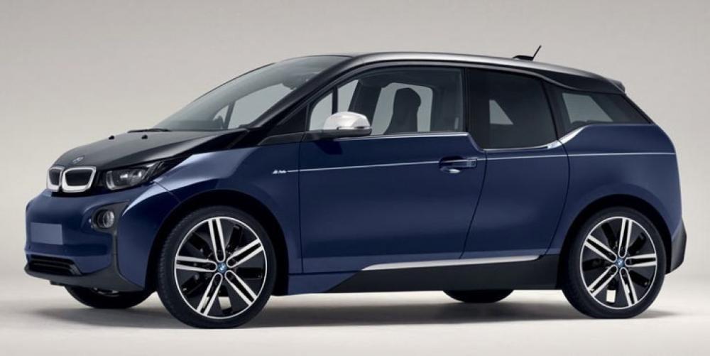 Cận cảnh BMW i3 MR Porter Edition màu xanh Tuxedo sắp ra mắt Geneva Motor Show 2016.