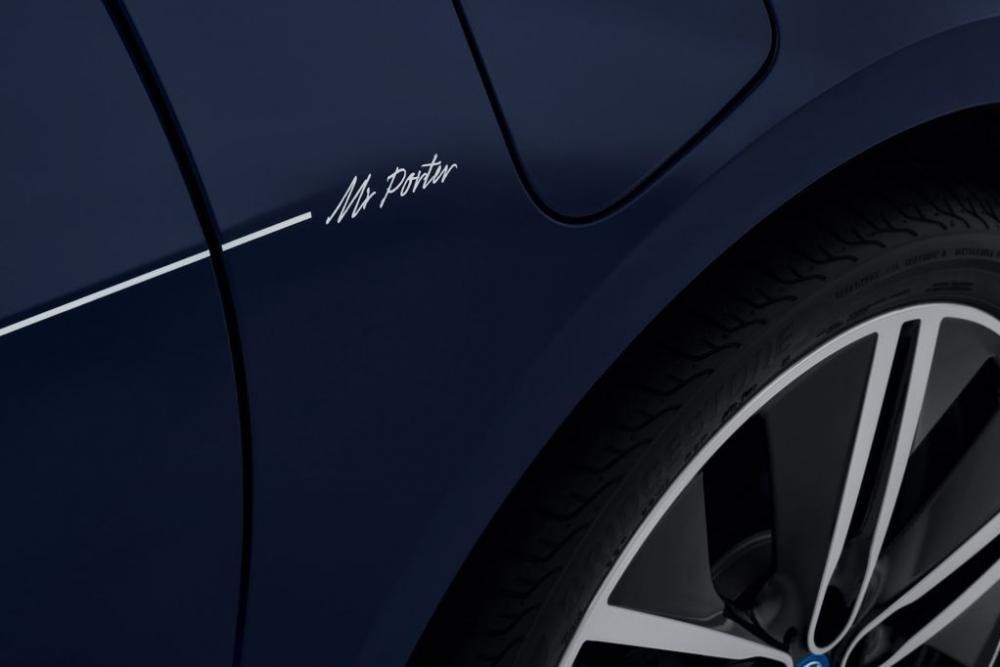 Cận cảnh BMW i3 MR Porter Edition màu xanh Tuxedo sắp ra mắt Geneva Motor Show 2016 3