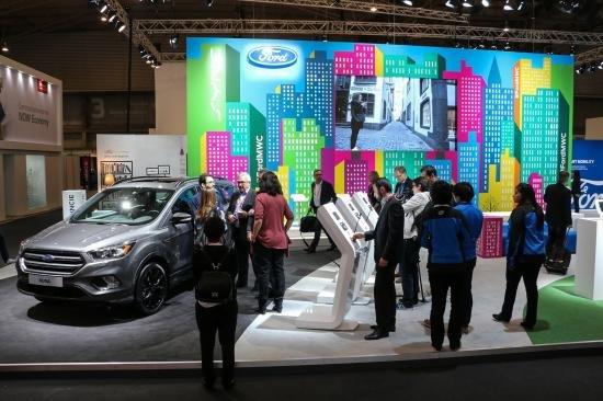 Hình ảnh chi tiết của Ford Kuga 2017 tại Triển lãm công nghệ Mobile World Congress, Barcelona.