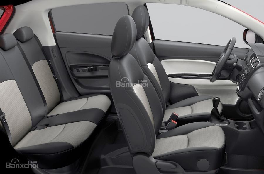 Mitsubishi Mirage mới sở hữu tùy chọn hệ thống thông tin giải trí màn hình cảm ứng 6,5inch mới .