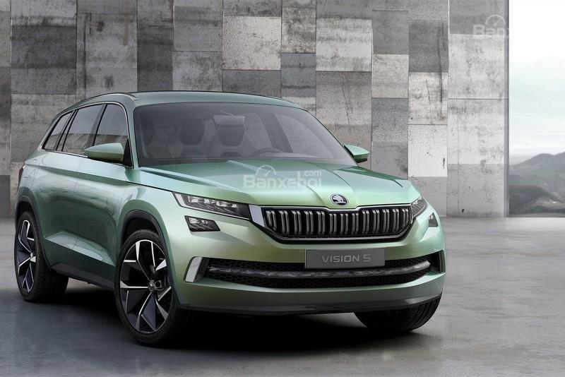 """Skoda VisionS concept: Tân binh SUV """"siêu"""" tiết kiệm 1"""