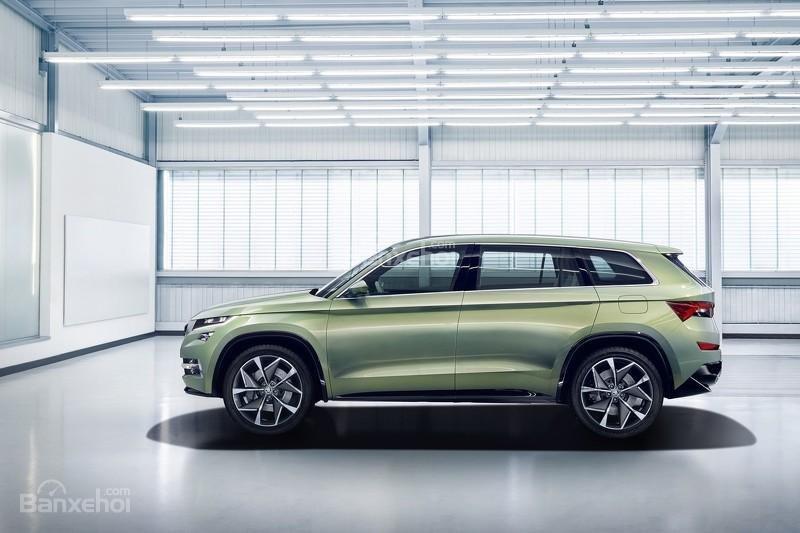 """Skoda VisionS concept có mức tiêu thụ nhiên liệu """"siêu"""" tiết kiệm với 2,3 lít/ 100km ."""